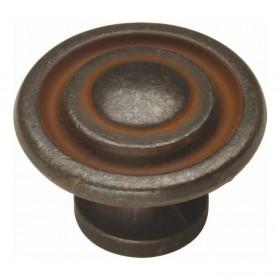 "Manchester Knob (Rustic Iron) - 1 3/8"""