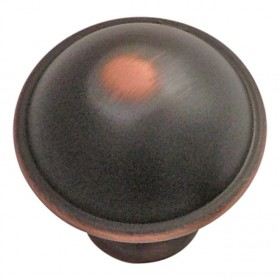"""Savoy Knob (Oil Rubbed Bronze Highlighted) - 1 1/4"""""""