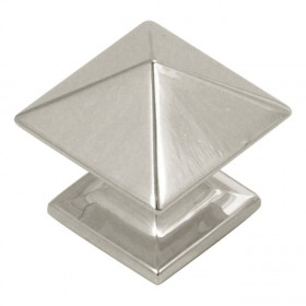 Studio Square Knob (Bright Nickel) - 1""