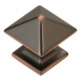 Studio Square Knob (Oil Rubbed Bronze Highlight) - 1""