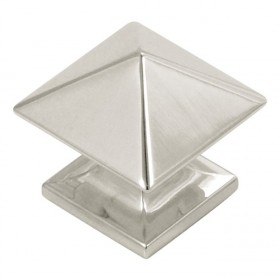 Studio Square Knob (Bright Nickel) - 1 1/4""