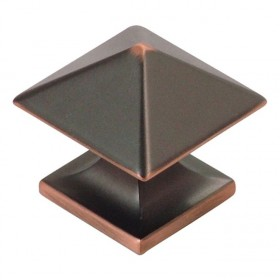 Studio Square Knob (Oil Rubbed Bronze Highlight) - 1 1/4""