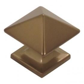 "Studio Square Knob (Venetian Bronze) - 1 1/4"""