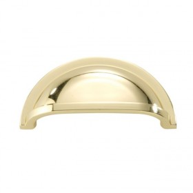 """Williamsburg Pull Cup (Polished Brass) - 3"""""""