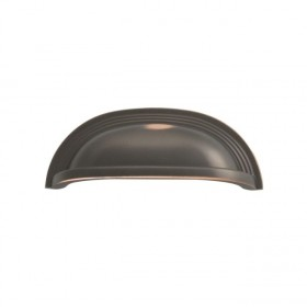 Deco Cup Pull (Oil Rubbed Bronze Highlighted) - 96mm