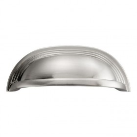 Deco Cup Pull (Satin Nickel) - 96mm