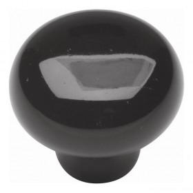 "Tranquility Knob (Black Iron) - 1 3/8"""