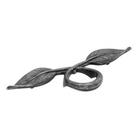 Natural Accents Leaf Pull (Vibra Pewter) - 3""