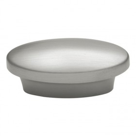Metropolis Oval Knob (Satin Nickel) - 1""