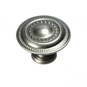 "Manor House Knob (Silver Stone) - 1 1/4"""