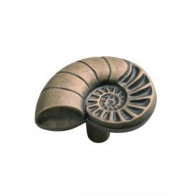 "South Seas Nautilus Shell Knob (Antique Mist) - 1 3/8"""