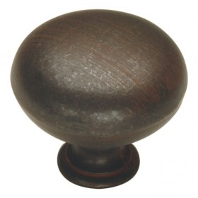 "Manchester Knob (Rustic Iron) - 1 1/4"""