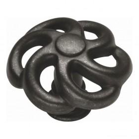 "Knob (Black Iron) - 1 1/2"""