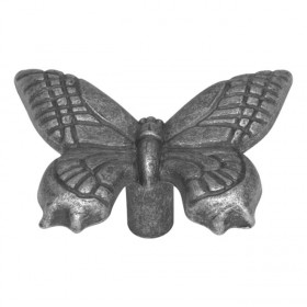 "Natural Accents Butterfly Knob (Vibra Pewter) - 2"" x 1 1/2"""