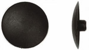 "#2 x 1/2""dia Cover Cap, Phillips Drive, Black"