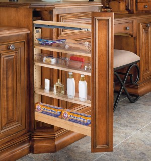 """3"""" Vanity Pull-Out Filler W/4 Poly Bins"""