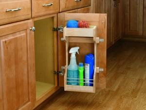 """13 1/2"""" Wooden Sink Door Storage Trays"""