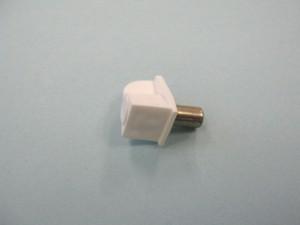 Plastic Shelf Support w/Steel Pin (White) - 5mm