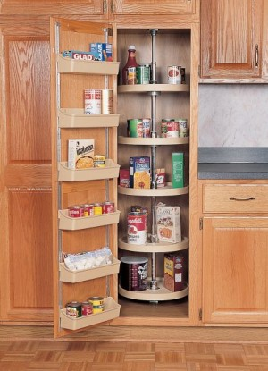 "16"" Five Shelf Full Circle Pantry Sets and Hardware (Almond)"