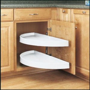"""13 1/4"""" Pivot and Slide Half Moon Pull Out (White)"""