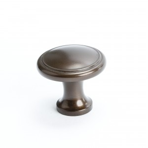 Adagio Knob w/Ring (Oil Rubbed Bronze) - 1 1/8""
