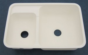 "32"" x 21"" Large & Small Kitchen Sink - White"