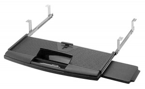 Keyboard Drawer w/ Mouse Tray (Black)