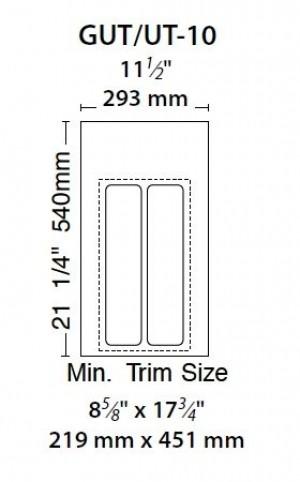 "11 1/4"" Utility Tray (Glossy White)"