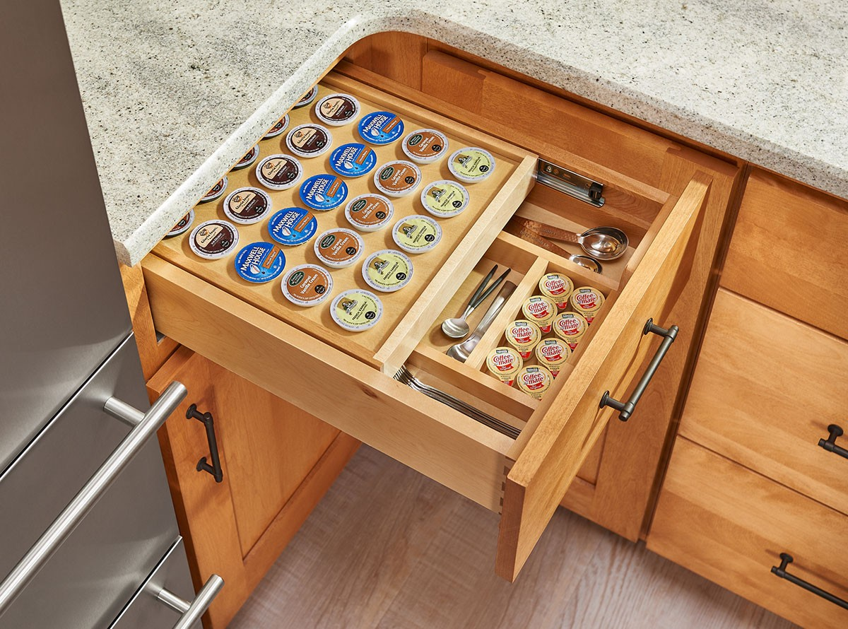 Tiered K Cup Drawer For 18 Quot Base Cabinets 4wtcd 18 Kcup 1