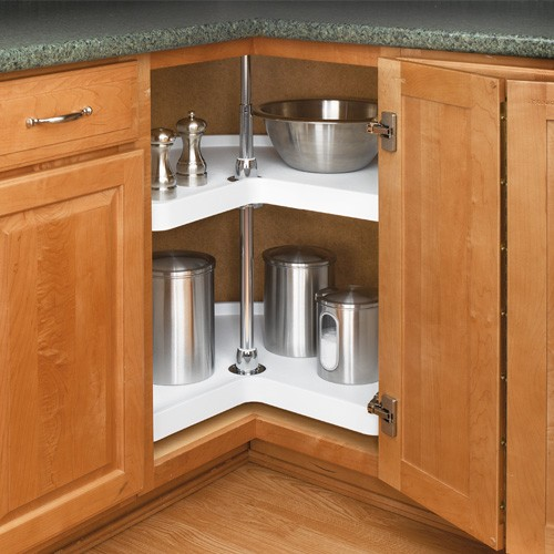 white corner cabinets for kitchen 32 quot kidney lazy susan white two shelf set 6472 32 11 28549