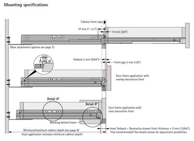 Hettich Quadro V6 Full Extension Under Mount Soft Close Drawer Slides 15 Quot 9134368