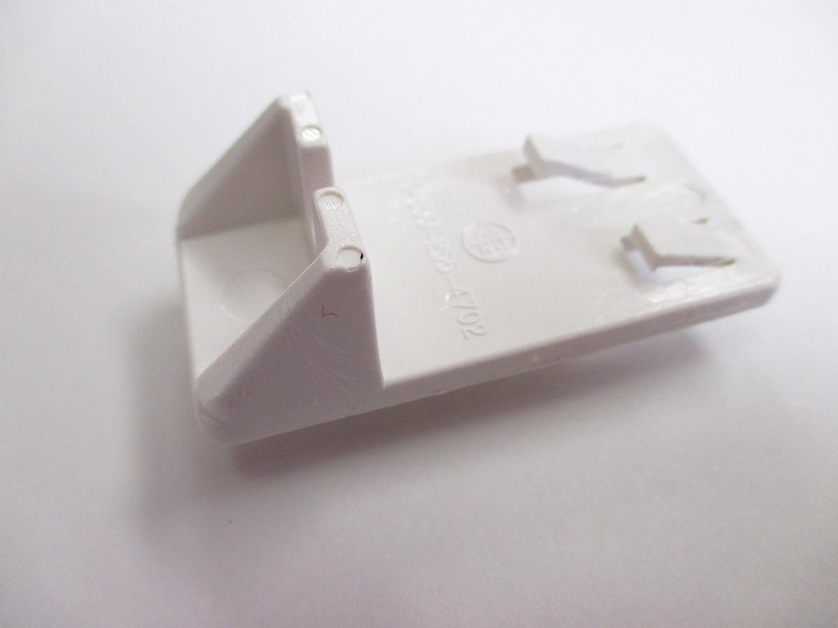Heavy Duty Locking Shelf Support Double Pin White