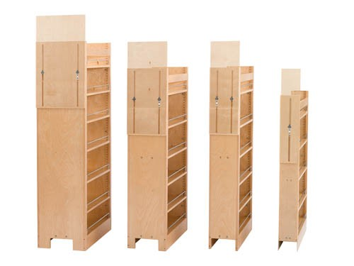 448 Series Pull Out Wood Pantry, Rev-A-Shelf