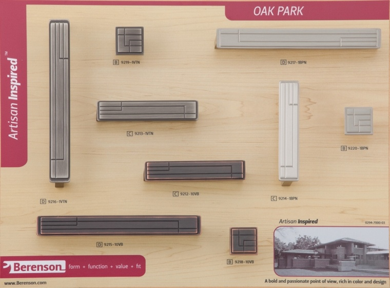 Oak Park Berenson decorative hardware board