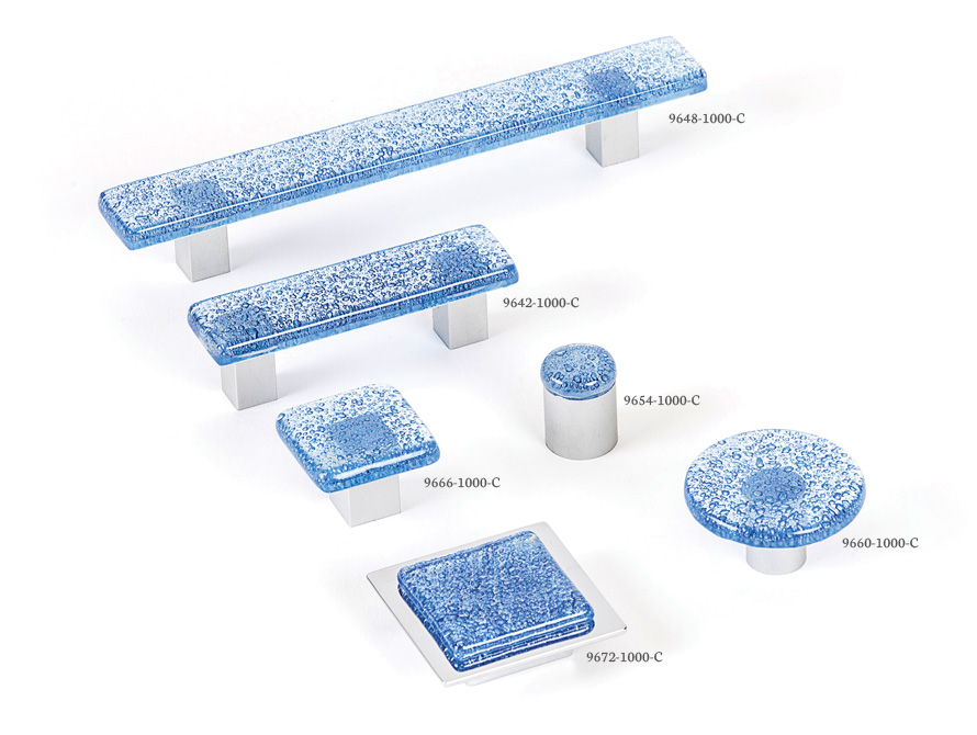 Aqua Blue - Spectrum decorative hardware board