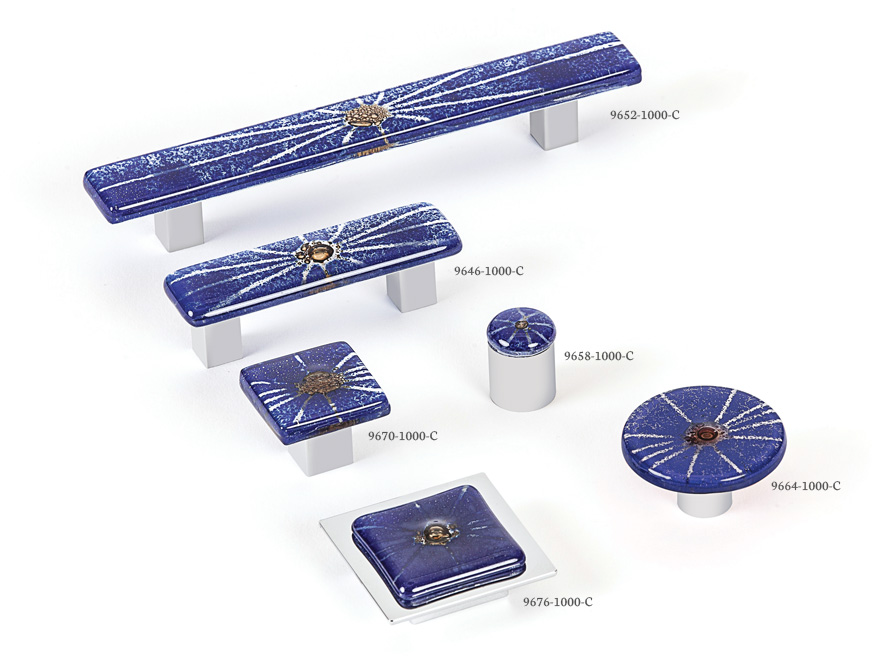 Radiants (Dark Blue) - Spectrum decorative hardware board