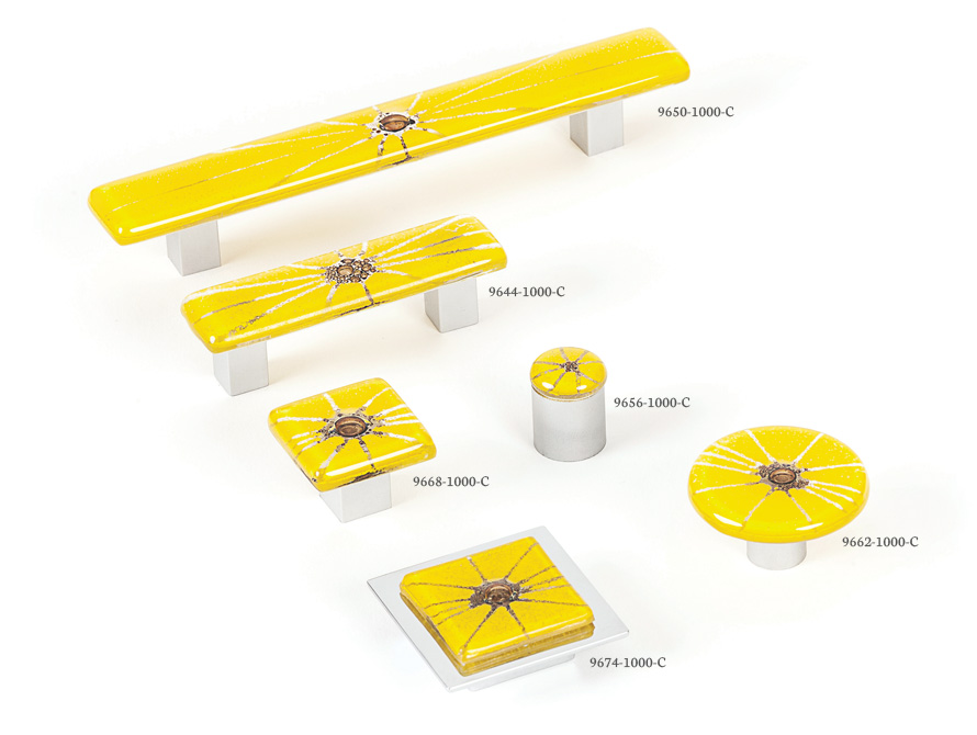 Radiants (Yellow) - Spectrum decorative hardware board