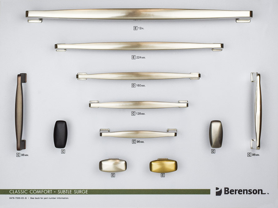 Subtle Surge Berenson Decorative Hardware Board