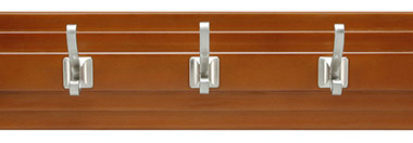 Belwith Finish: Maple Stained with Satin Nickel (MSSN)