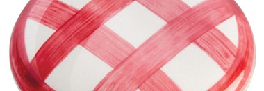 Belwith Finish: White with Red Checker (WRCK)