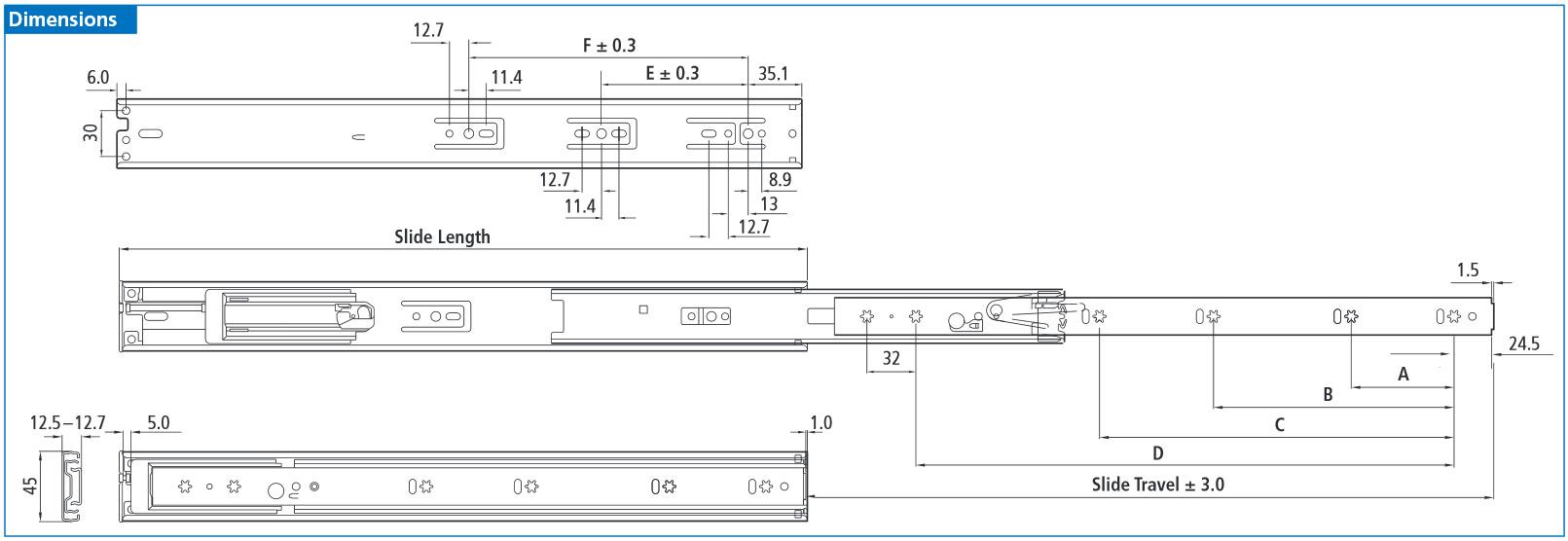 Repon Drawer Slide Diagram